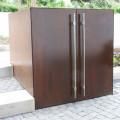 Mülltonnenbox Corten-B